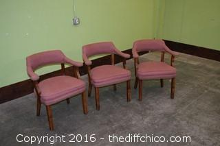 3 Padded Chairs