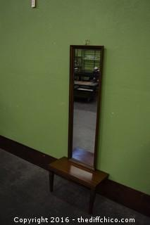 Mirror & Table as found in house