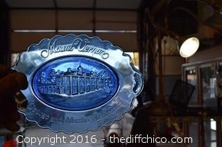 Mount Vernon Martha & George Washington Cobalt Blue Plate & Soap