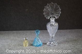 3 Vintage Perfume Bottles