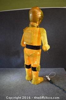 Working C3PO Figure - 38 inches tall