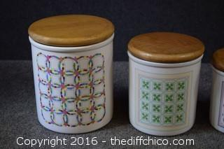 Quilt Canister Set