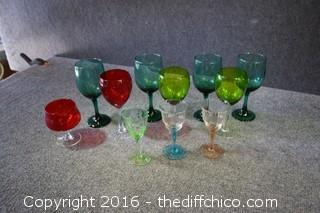 Colored Glass Lot