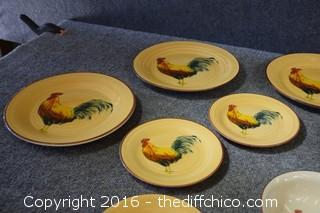12 Pieces of Morning Rooster Replacement Dishes by Orneida