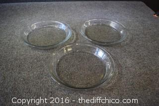 3 Anchor Hocking Pie Plates