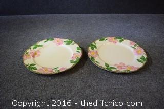 2 Franciscan Desert Rose Plates