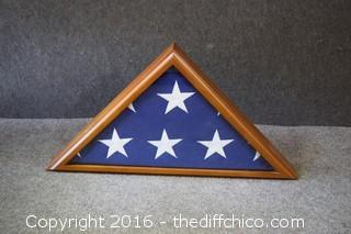Flag in Display Case