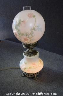 Working Signed Hand-Painted Lamp