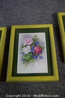 4 Framed Pictures