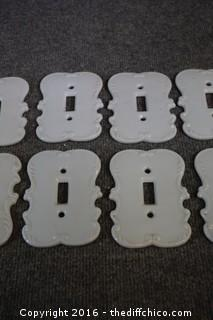 10 Porcelain Wall Switch Plates
