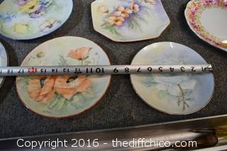 8 Hand-Painted Plates & More