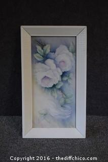Framed Hand-Painted Plaque