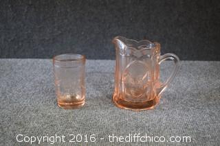 2 Pieces of Pink Depression Glass