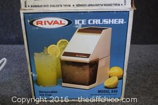 Rival Ice Crusher w/Box