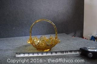 Amber Glass Basket