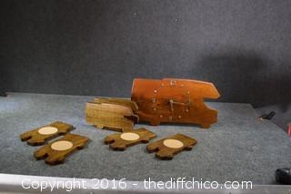 Wood Coasters & Clock-Untested