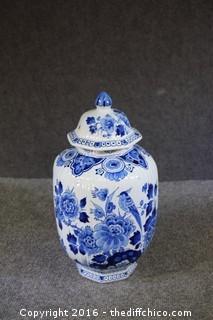 Oriental Blue & White Ginger Jar
