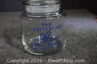 90th Anniversary Holly Sugar Storage Jar