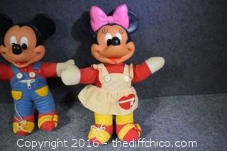 Vintage Minnie & Mickey Mouse