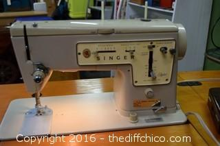 Working Singer Sewing Machine Model 457 - In Cabinet