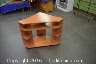 Rolling Corner Shelf Unit