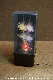 Working Musical Fiber Optic Lamp
