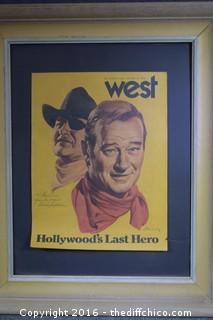 John Wayne Framed Poster