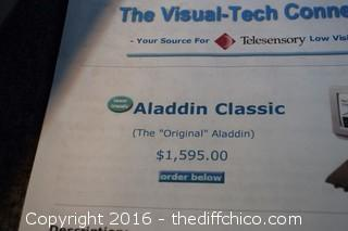 Working Aladdin Classic Magnifier
