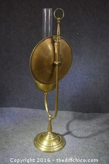 Vintage Brass Oil Lamp - Rare