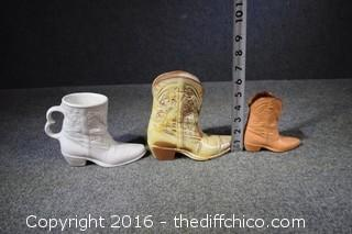 3 Frankoma Boots