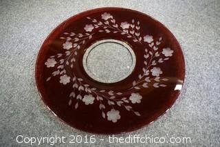 Red Glass Platter