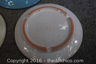 4 Frankoma Plates