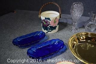 Mixed Lot - Purple Glass Items, Cobalt Blue & More