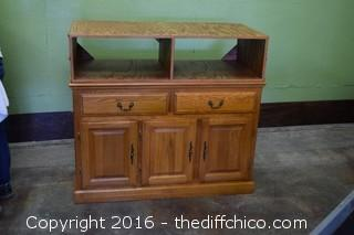Oak Sideboard w/Top for Flat Screen TV