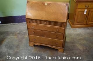 Vintage Oak Secretary