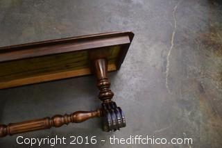 Vintage Walnut Bench