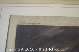 Framed Mrs. Douglas Vintage Print