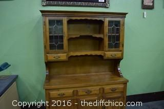 Vintage 2 Piece Maple Hutch