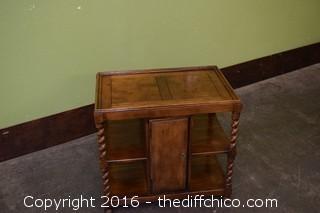 Oak Barley Twist End Table