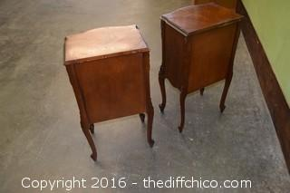 Pair of Vintage Mahogany End Tables