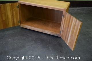 Oak Rolling Cabinet