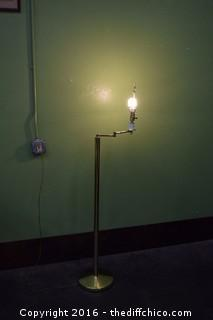 Vintage 61in tall Bridge Pole Lamp