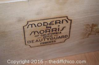 Mid Century Modern by Morris 9 Drawer Dresser w/Beveled Mirror