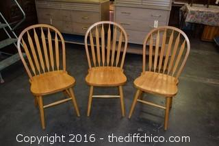3 Oak Winner's Only Chairs