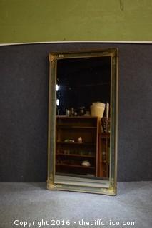 Vintage Framed Beveled Mirror