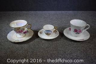 3 Cup & Saucer Sets