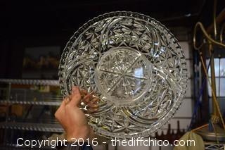 Vintage Glass Serving Platter
