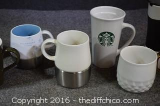8 Starbucks Mugs