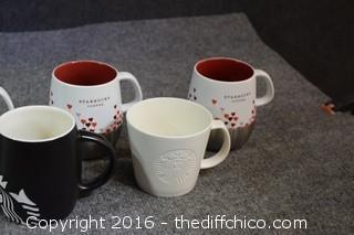 9 Starbucks Mugs