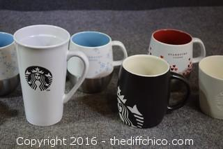 9 Starbucks Mugs